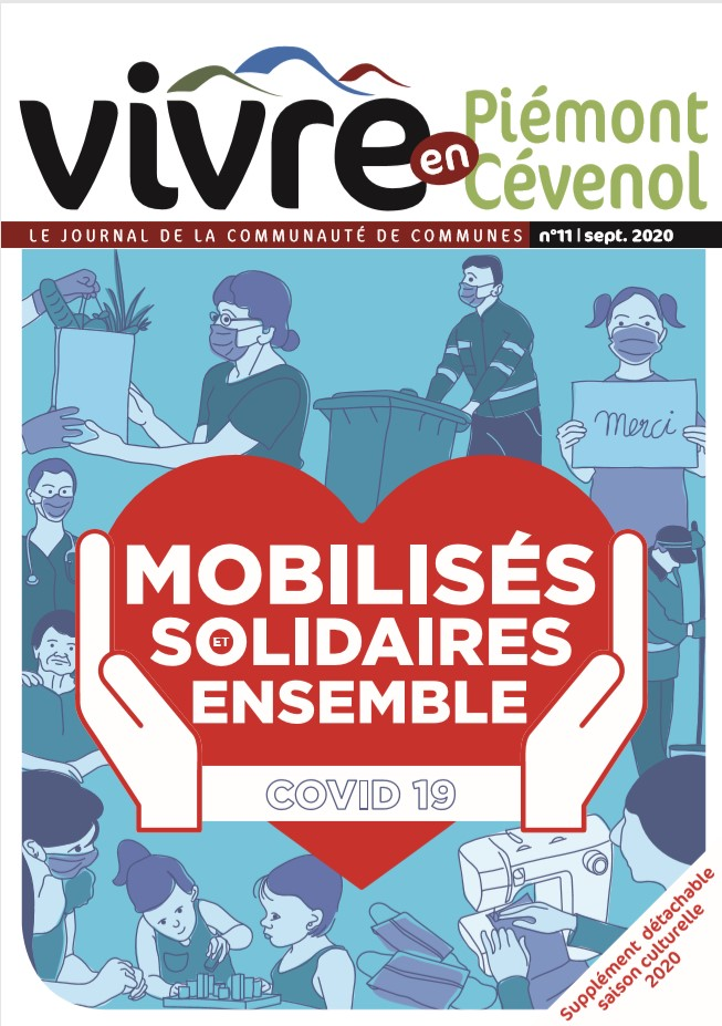 Journal Vivre en Piemont Cévenol Août 2020 couverture