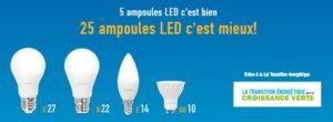 Distribution d'ampoules gratuites